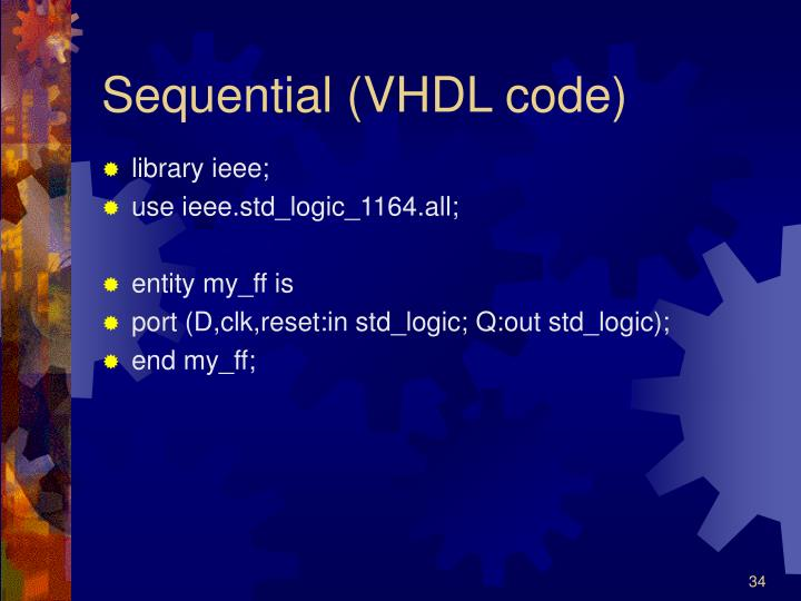 Sequential (VHDL code)