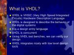 what is vhdl