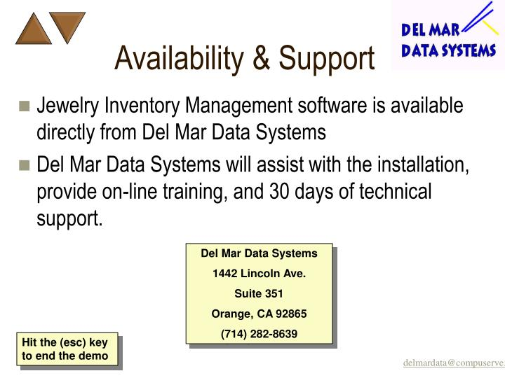 Availability & Support