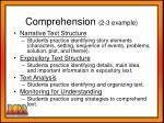 comprehension 2 3 example