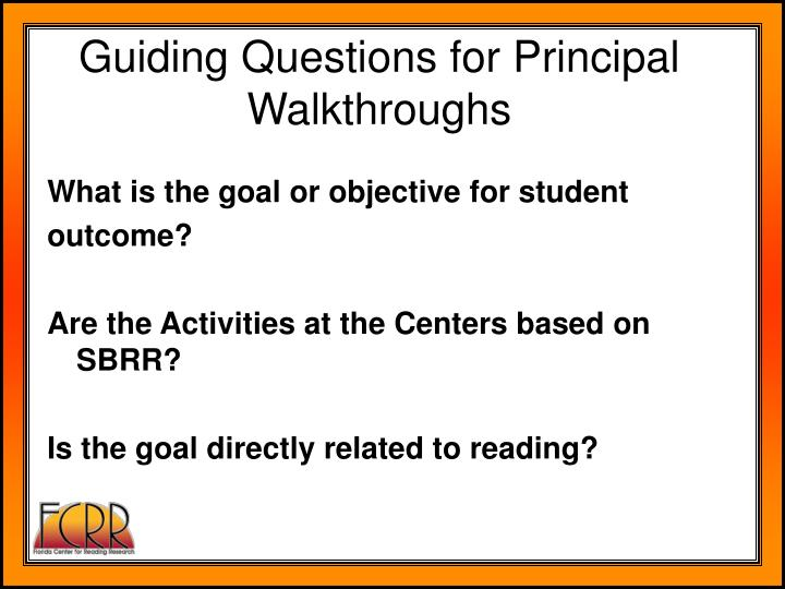 What is the goal or objective for student