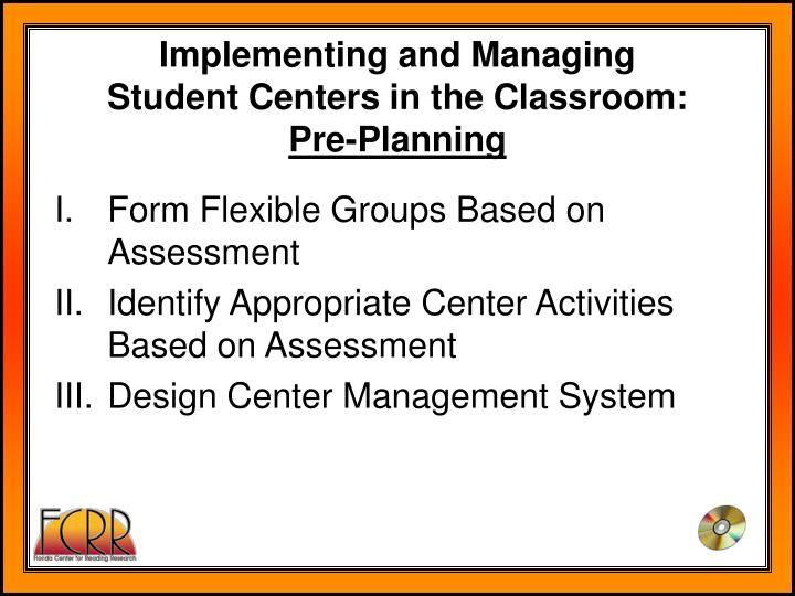 Implementing and Managing