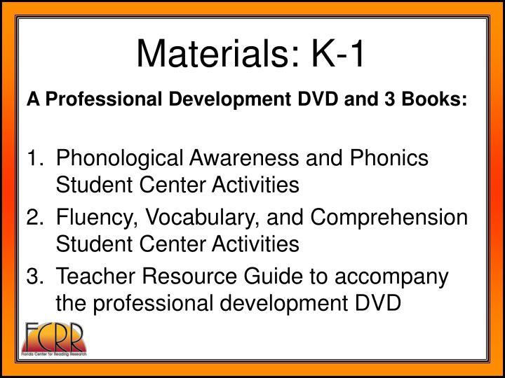 Materials: K-1