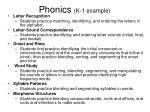 phonics k 1 example