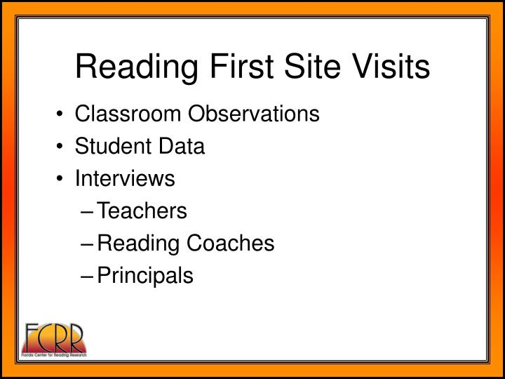 Reading First Site Visits