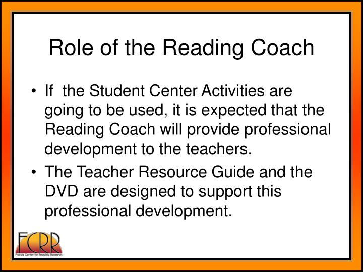 Role of the Reading Coach