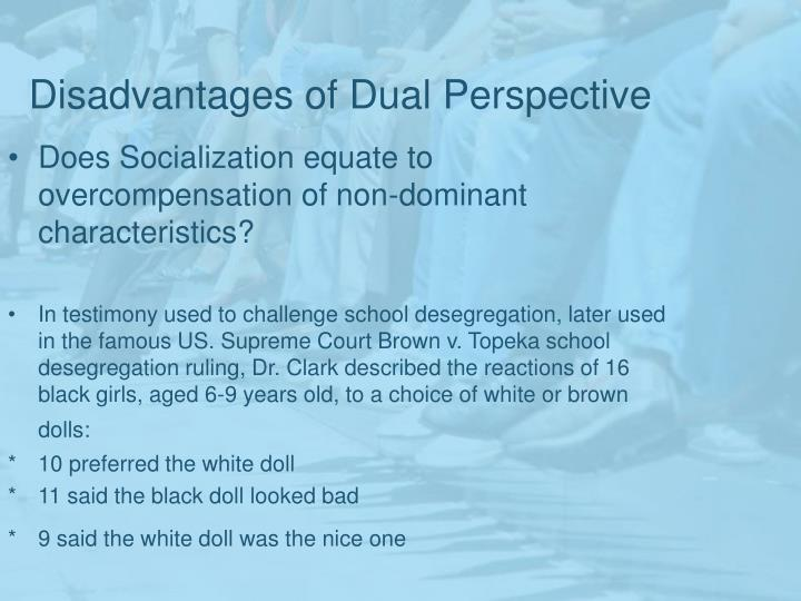 Disadvantages of Dual Perspective
