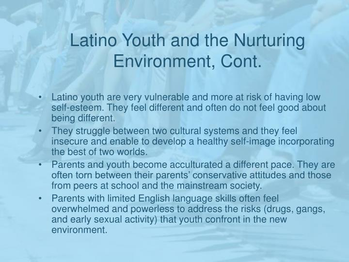 Latino Youth and the Nurturing Environment, Cont.