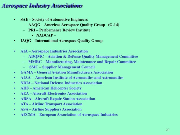 Aerospace Industry Associations