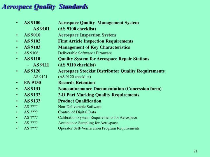 Aerospace Quality  Standards