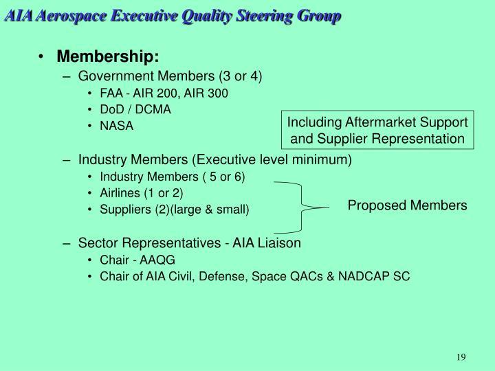 AIA Aerospace Executive Quality Steering Group
