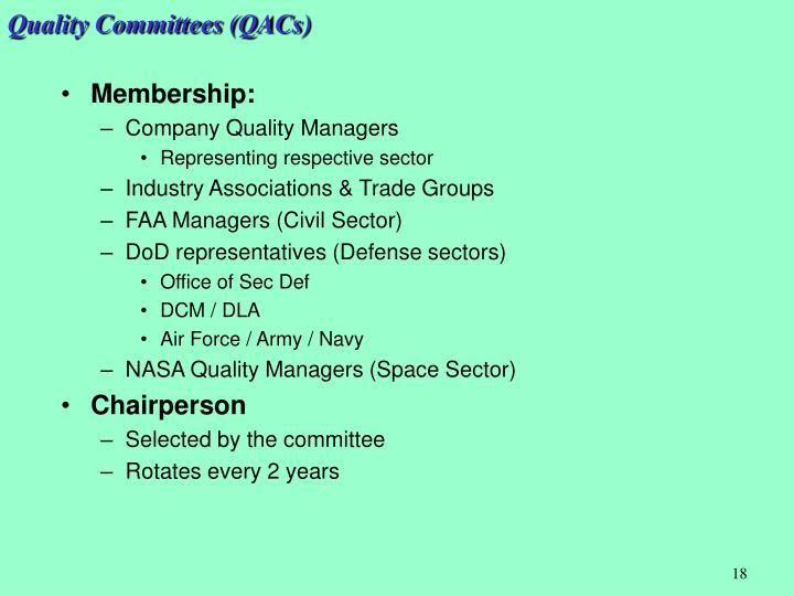 Quality Committees (QACs)