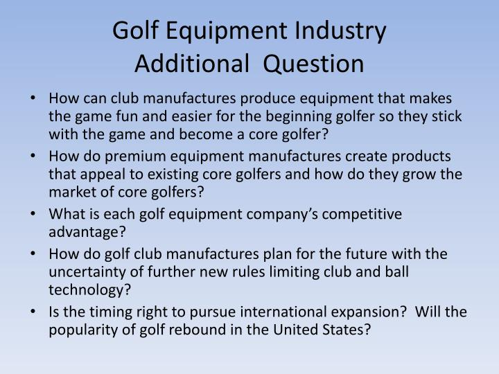 Golf Equipment Industry