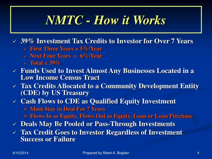 NMTC - How it Works