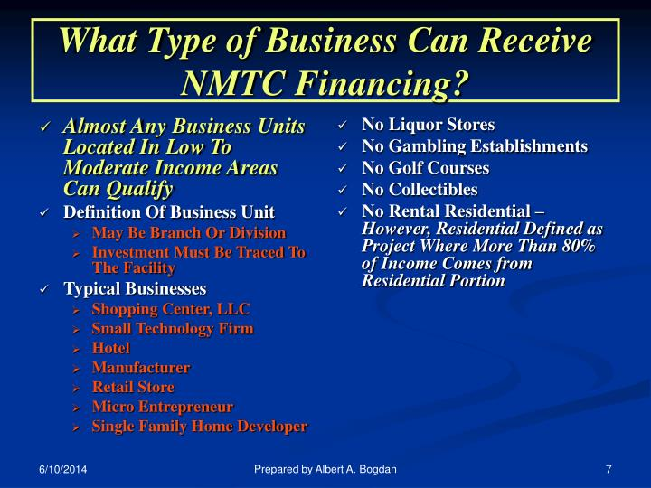 Almost Any Business Units Located In Low To Moderate Income Areas Can Qualify
