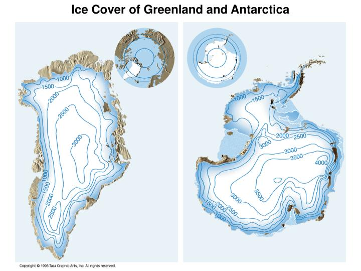 Ice Cover of Greenland and Antarctica