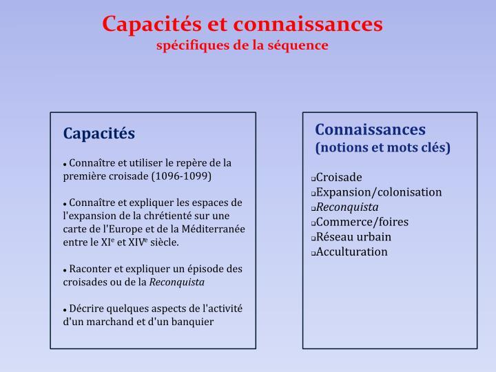 Capacités et connaissances