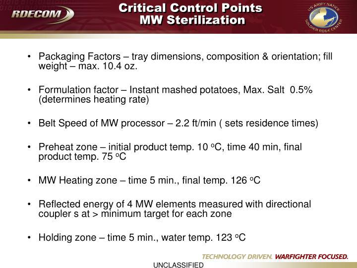 Critical Control Points