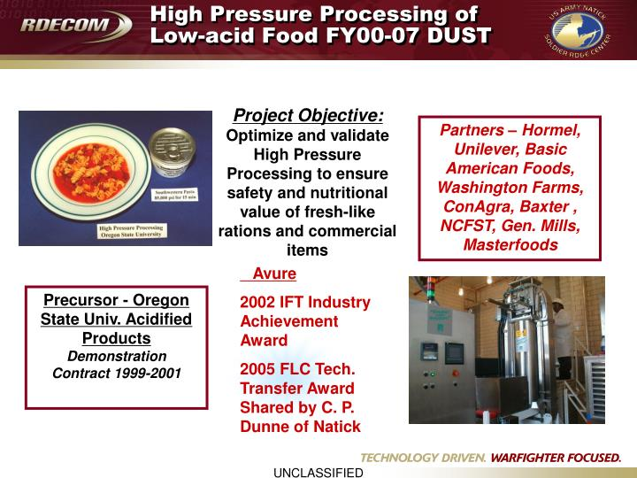 High Pressure Processing of