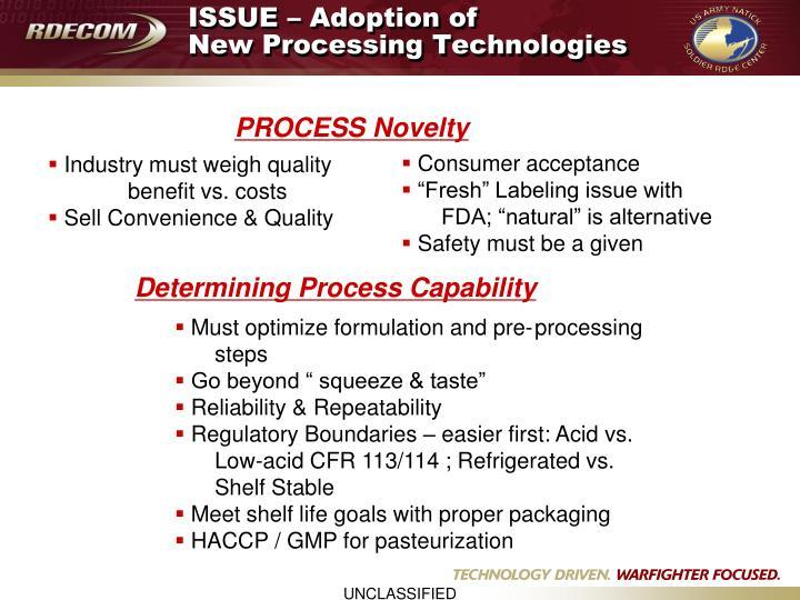 ISSUE – Adoption of