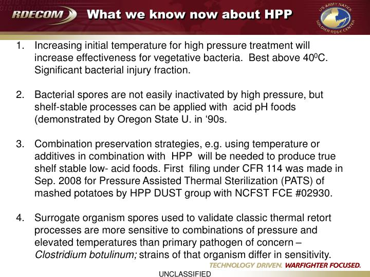 What we know now about HPP