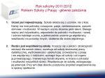 rok szkolny 2011 2012 rokiem szko y z pasj g wne za o enia
