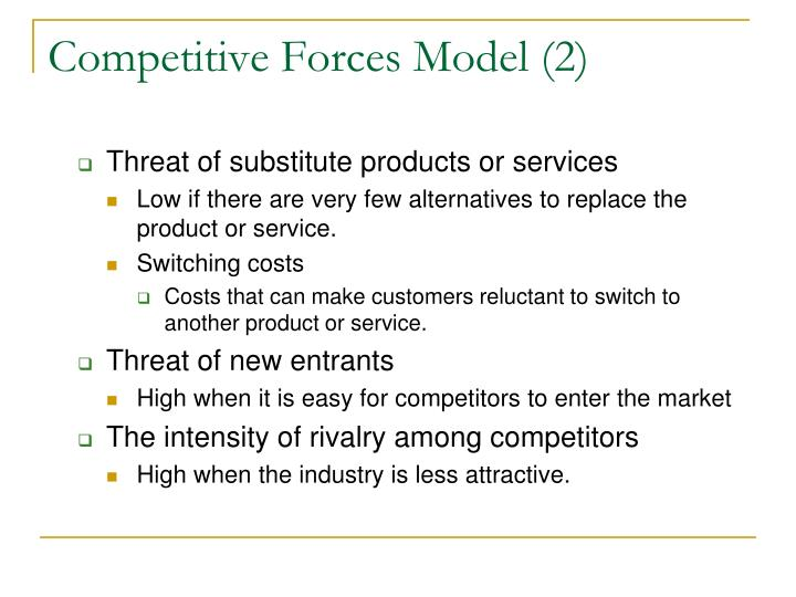 Competitive Forces Model (2)
