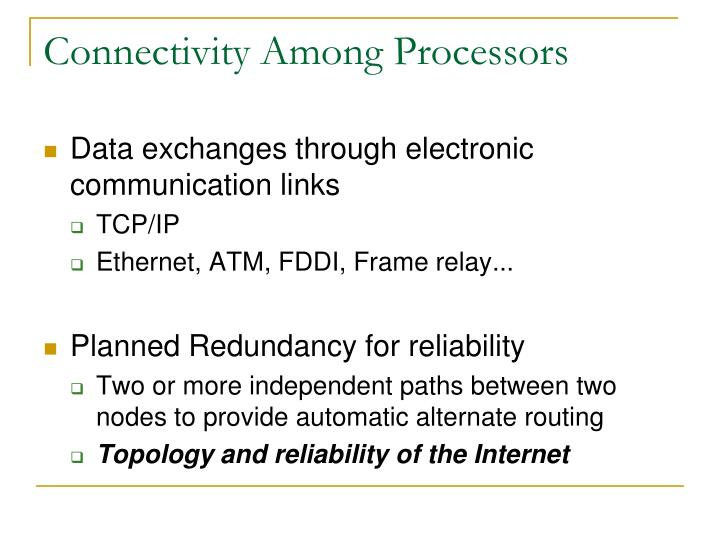 Connectivity Among Processors