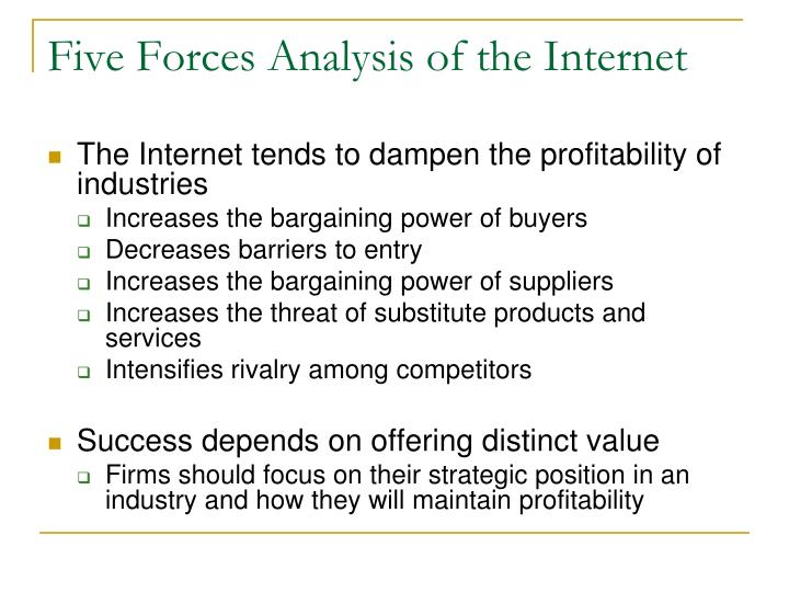 Five Forces Analysis of the Internet