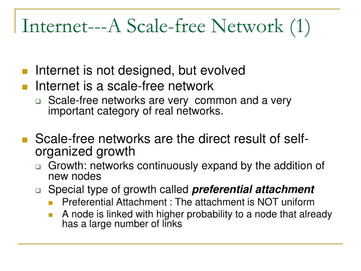 Internet---A Scale-free Network (1)