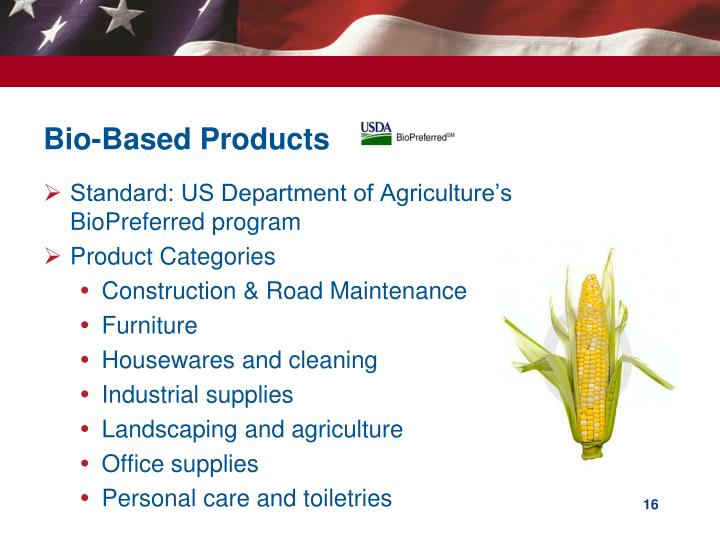 Bio-Based Products