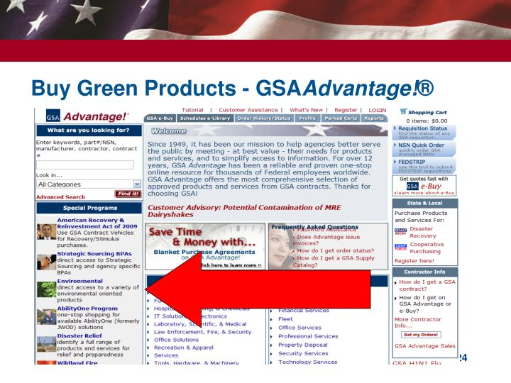 Buy Green Products - GSA