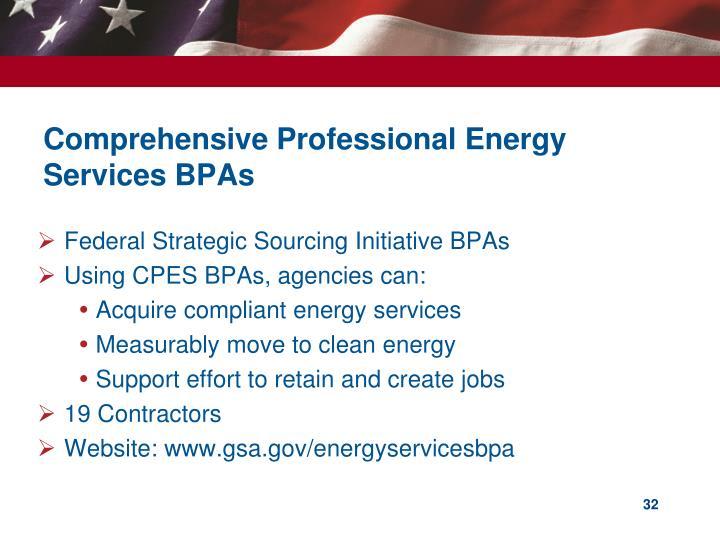 Comprehensive Professional Energy Services BPAs