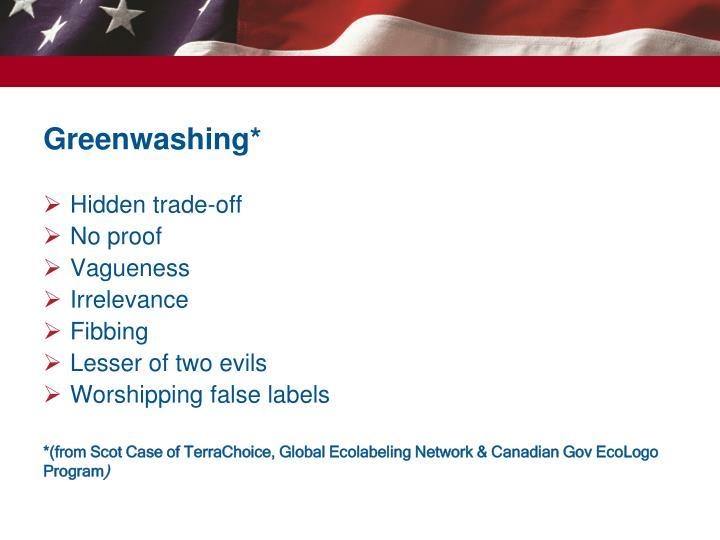 Greenwashing*