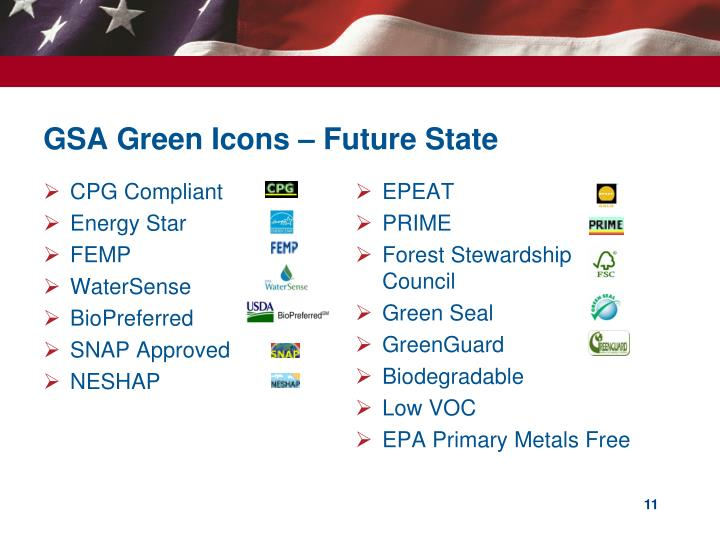 GSA Green Icons – Future State