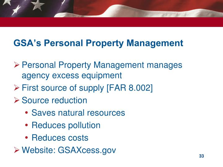 GSA's Personal Property Management