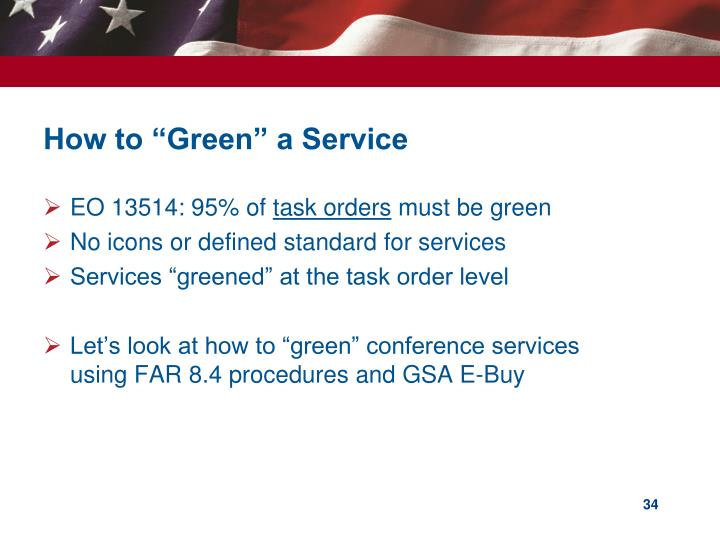 """How to """"Green"""" a Service"""