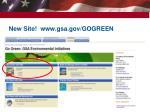 new site www gsa gov gogreen