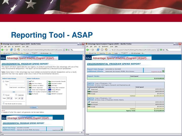 Reporting Tool - ASAP