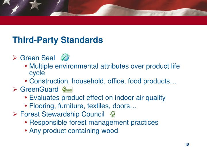 Third-Party Standards