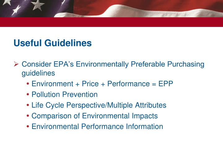 Useful Guidelines