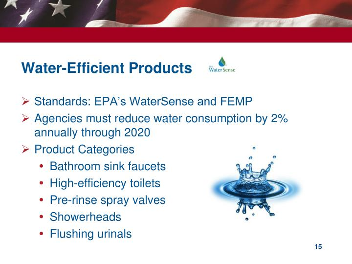 Water-Efficient Products