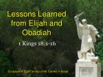lessons learned from elijah and obadiah