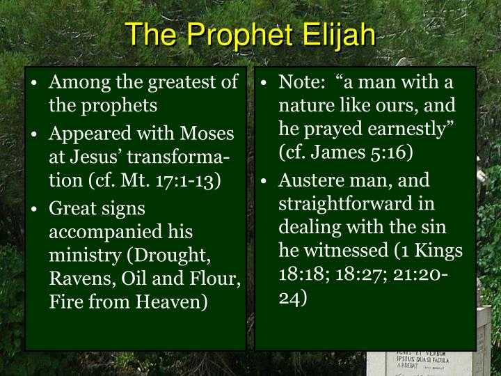 Among the greatest of the prophets
