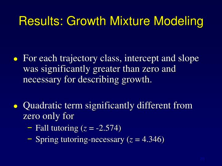 Results: Growth Mixture Modeling