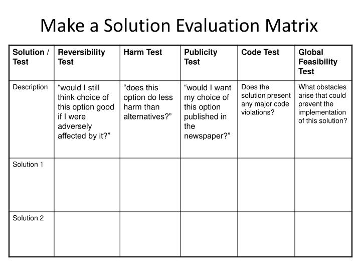 Make a Solution