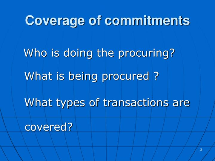 Coverage of commitments
