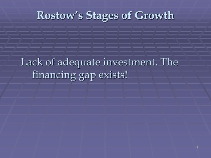 Rostow's Stages of Growth