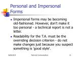 personal and impersonal forms1