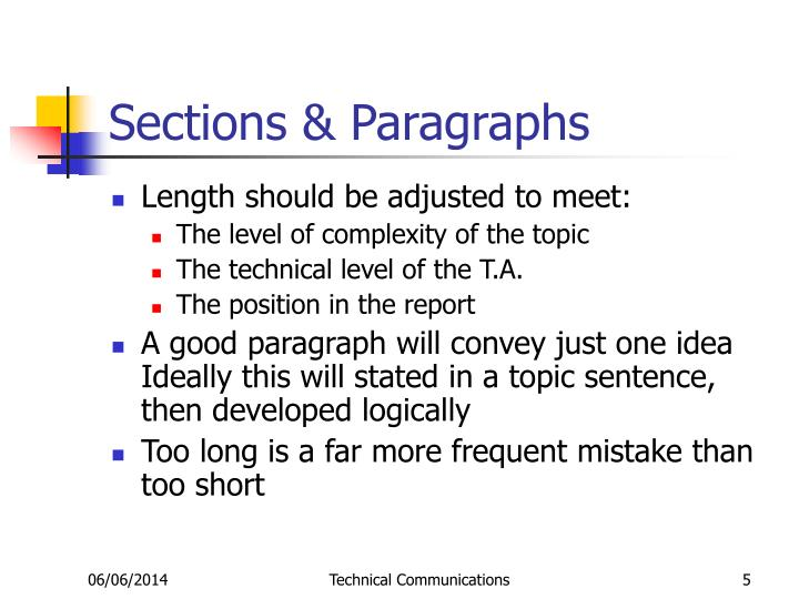 Sections & Paragraphs